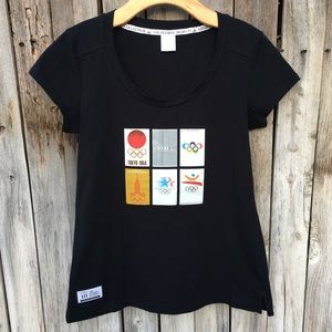 Official London 2012 Olympics Graphic Tee Black M